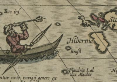 Hy-Brasil: Jodocus Hondius (1563-1612) America (detail) Amsterdam, [between 1609 to 1633] Norman B. Leventhal Map Center at the Boston Public Library