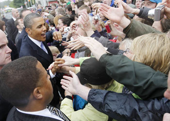 Obama at Moneygall: AP Pool Photo