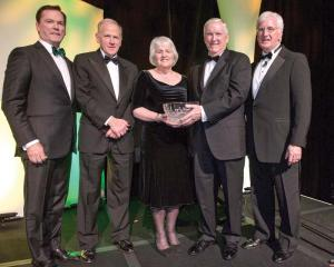 Jay Hooley, Chuck Clough, Margot Connell, Jack Connors, The American Ireland Fund New England Director Steve Greeley.