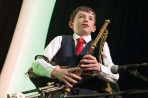 Cian Smith, a young musician from Ireland who performed at the dinner. © Michael Casey photo