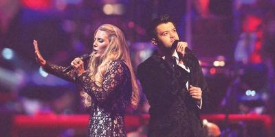 Chloe Agnew and Eamonn McCrystal in performance. 	Photo courtesy Hedge Hog Entertainment