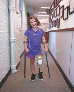 Jane Richard: The Richard family— whose eight-year-old son Martin was killed in the Patriot's Day bombing at the Boston Marathon— last month released this photo of seven-year-old Jane Richard, who is now using a prosthesis to replace part of her left leg, which she lost in the attack.</p /> </span><span class=