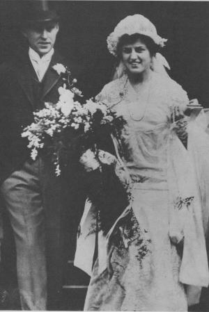 The Kennedys on their wedding day, Oct. 7, 1914