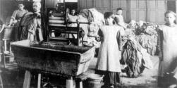 An archival photo of of a Magdalene Laundries setting.
