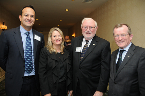 Ireland's Minister for Tourism Leo Varadkar (left) is pictured with Ruth Moran of Tourism Ireland, BIR Publisher Ed Forry, and Tourism Ireland Director Niall Gibbons