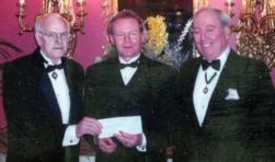 From left, Frank Burke, Martin McGuinness, and Joe Leary at the Clover Club years ago.