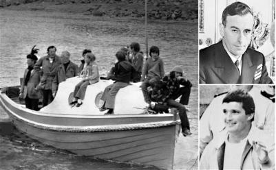 Mountbatten: August 1979: Lord Mountbatten (top right) with members of his family aboard the boat that was blown up by members of the IRA and Thomas McMahon (bottom right) who was convicted of the murders in 1979 of Lord Mountbatten and three other people.