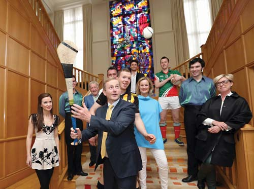 "Taoiseach Enda Kenny gathered  in Dublin with organizers of iFest as plans for this first major Irish Festival were announced this summer. The three-day event boasts that it will present the ""Best of Ireland.""  	Photo courtesy iFest Boston"