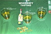 A taste test of whiskey at the end of the Jameson Distillery tour in Midleton, Co. Cork.